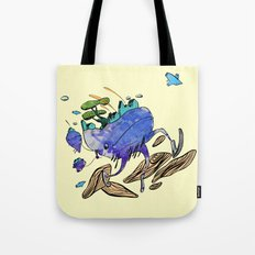 explore (blue) Tote Bag
