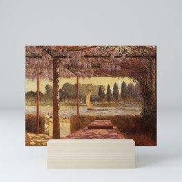 The Trellis by the River by Ferdinand Du Puigaudeau Mini Art Print