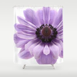 Lilac Anemone Flower Shower Curtain