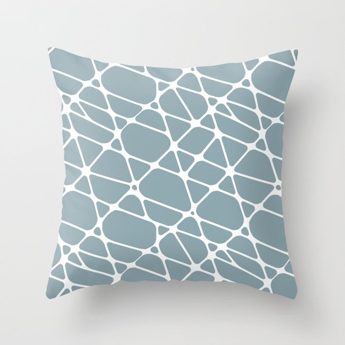 White & Pale Blue Abstract Mosaic Pattern 2 Pairs to Clare Paints 2020 Color of The Year Good Jeans Throw Pillow