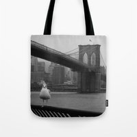 dumbo Tote Bags featuring dumbo by Gray