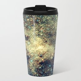 Galaxy Gold & Blue Stars Travel Mug