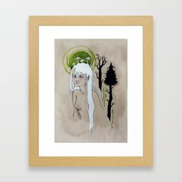 unimpressed wood nymph Framed Art Print