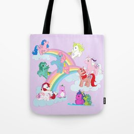 g1 my little pony early characters group Tote Bag