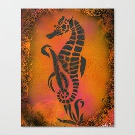 Fire Seahorse Canvas Print