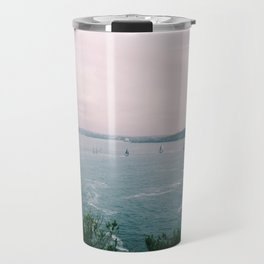 Sails on Sunset Travel Mug