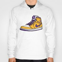 lakers Hoodies featuring Jordan 1 mid (LA Lakers) by Pancho the Macho
