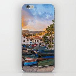 Madeira sunset iPhone Skin