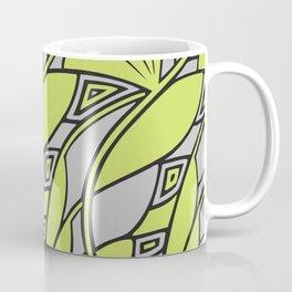 Modern art nouveau tessellations green gray Coffee Mug