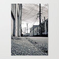 Old urban alley Canvas Print