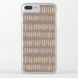 Earthy Green on Grape Vine Purple Parable to 2020 Color of the Year Back to Nature Bold Grunge Dash Clear iPhone Case