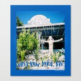 Ivan's on Jost Van Dyke, BVI- World's best honor bar! Canvas Print