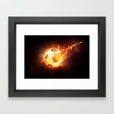 Fire Football Framed Art Print