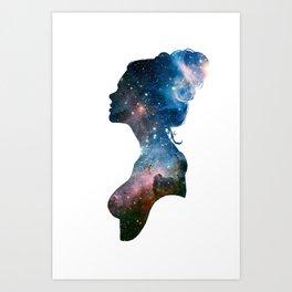 Galactic Girl Art Print