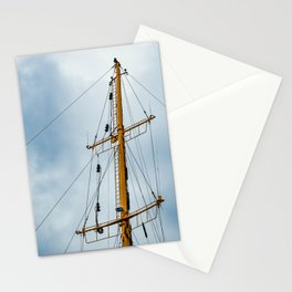 The mast of the ship against the bright sky Stationery Cards