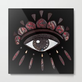 KENZO eye red Metal Print
