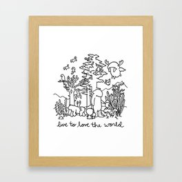 live to love the world Framed Art Print