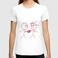 couple T-shirts featuring couple by lisenok