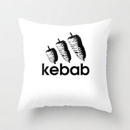 Funny Kebab Throw Pillow