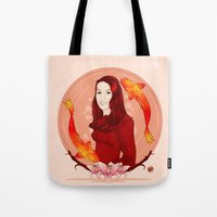 pisces Tote Bags featuring Pisces by Vanesa Abati