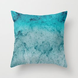 Deep Sea Blue Throw Pillow