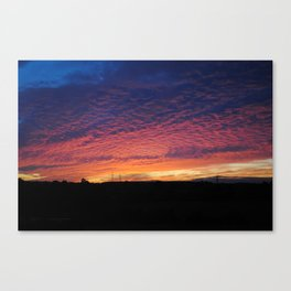 Colourful sunset Canvas Print