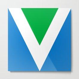 Official Vegan Flag Metal Print