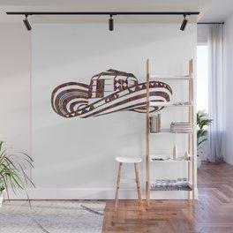 Colombian Sombrero Vueltiao in Mola Pattern Wall Mural