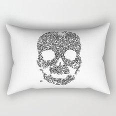 Panda is cool/skull Rectangular Pillow