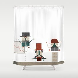 Quiet in the office Shower Curtain