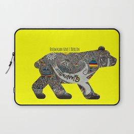 Berlin Bear Laptop Sleeve
