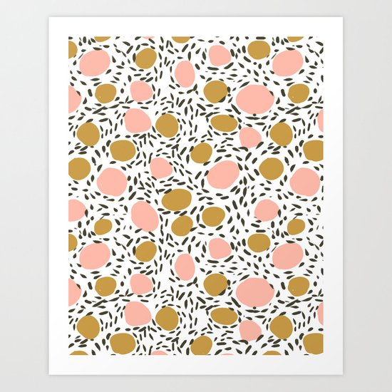 Pebbles cute pattern gender neutral dorm college abstract design minimal modern earth nature Art Print
