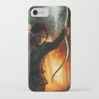 katniss iPhone & iPod Cases featuring Katniss Everdeen by Emily Doyle