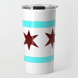 Chicago Flag (traditional) Travel Mug