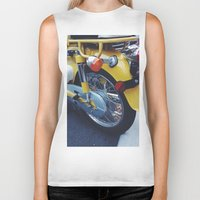 moto Biker Tanks featuring Yellow Moto by ThingsLikeStuff