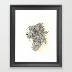 animalia lion Framed Art Print