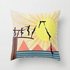 SUMMER POOL Throw Pillow