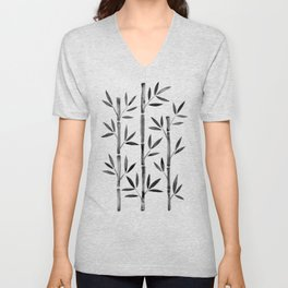 Black Bamboo Unisex V-Neck