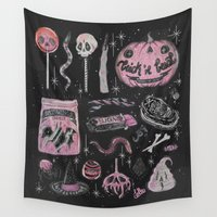 loll3 Wall Tapestries featuring Trick 'r Treat by lOll3
