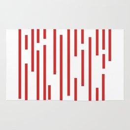 Minimalist Lines – Red Rug
