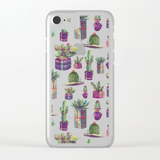 CACTUS GIFT Clear iPhone Case