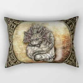 Aztec Axolotl  Rectangular Pillow