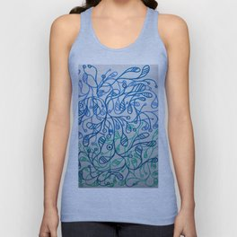 Layers of Blue Unisex Tank Top