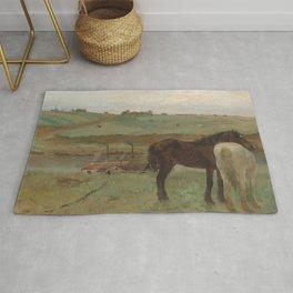 Horses in a Meadow Rug