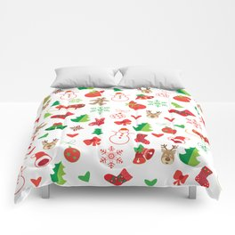 Happy New Year and Christmas Symbols Decoration Comforters