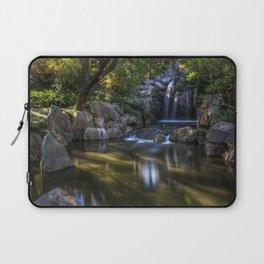 beautiful waterfall summer Thailand river forest sunset evening waterfalls Laptop Sleeve