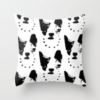 frenchie Throw Pillows featuring Frenchie! by oma!