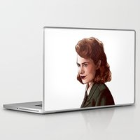 peggy carter Laptop & iPad Skins featuring Miss Carter by Kelslk
