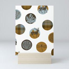 Scots Dots Mini Art Print