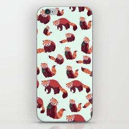 Red Panda Pattern iPhone Skin